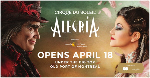 None - Chance to Win a Weekend Getaway to Montreal to See Cirque Du Soleil's Alegria!