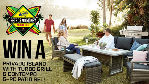 None - Win a Privado Island with Turbo Grill and Contempo 5-Pc Patio Set from Barbeques Galore!