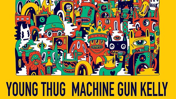 None - Machine Gun Kelly and Young Thug in Des Moines