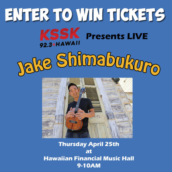 None -     Enter to Win a 4 pack of tickets to see Jake Shimabukuro