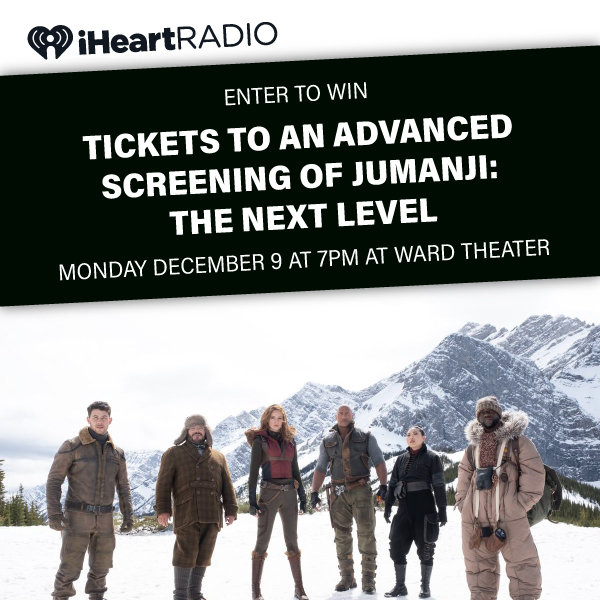 None - Enter to win a 4 Pack of tix to Jumanji: Next Level Advanced Screening