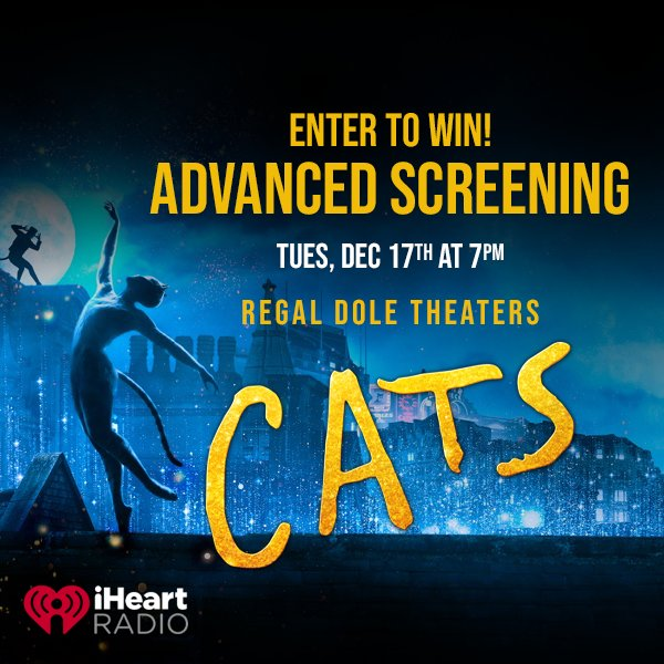 None - Enter to win a 4 Pack of tix to CATS The Movie Advanced Screening