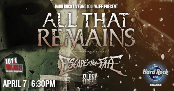None -  All That Remains Tickets Giveaway!