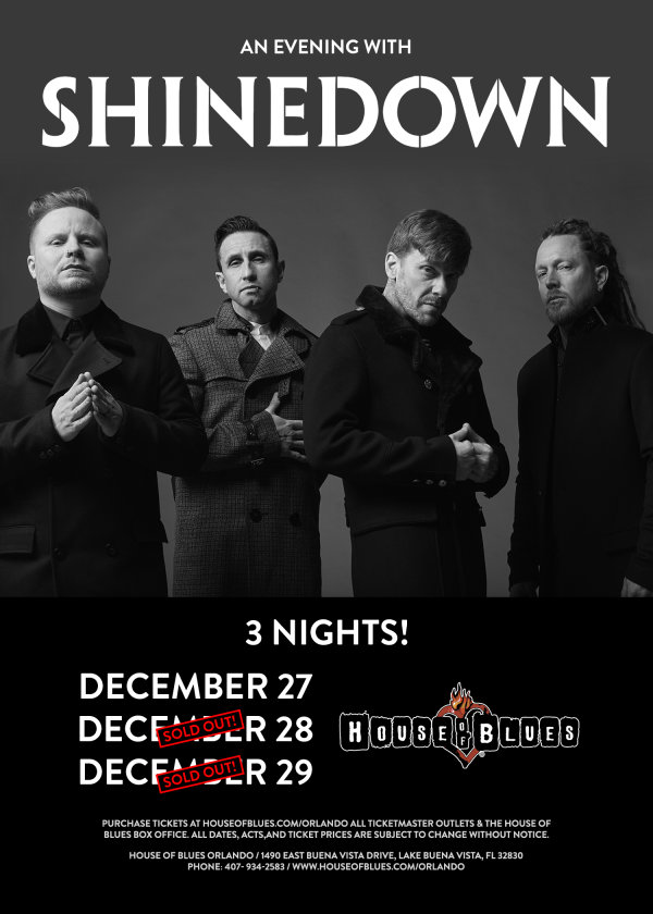None - Enter to win tickets to see SHINEDOWN