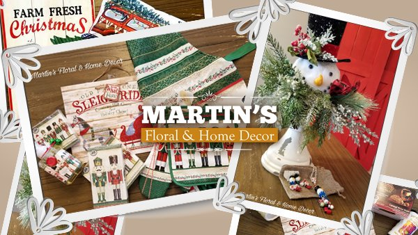 None - Martin's Floral Christmas Giveaway
