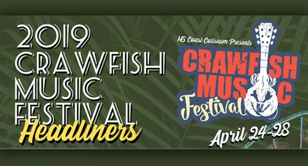 Crawfish Music Festival VIP Seats for April 25th