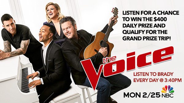 None -      Win A Grand Prize Trip To A Live Taping Of The Voice