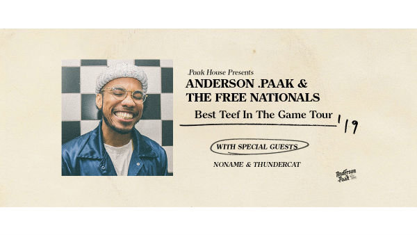 None -              Win Tickets toAnderson .Paak & The Free Nationals