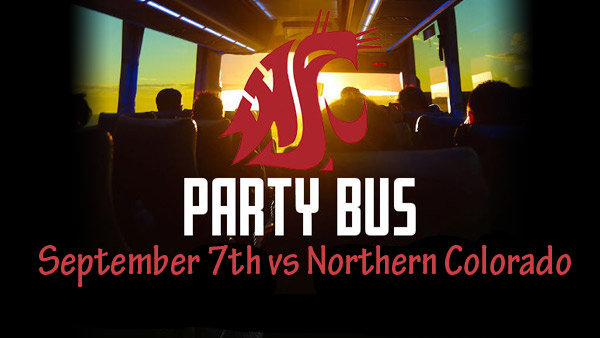 None - Win tickets onto the WSU Party Bus to Pullman!