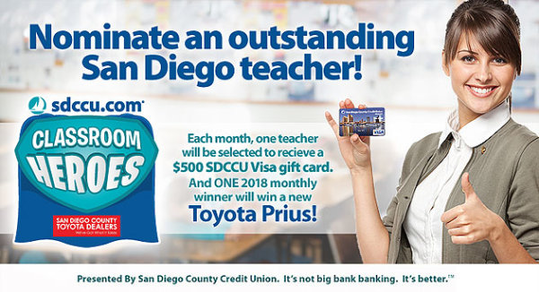 None - Nominate a Teacher to Win $500