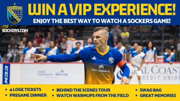 Win a San Diego Sockers VIP Experience
