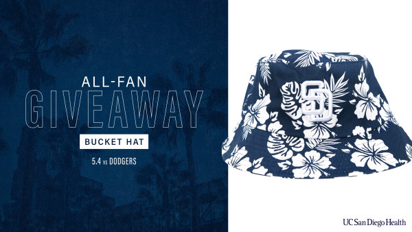 None -  Padres All-Fan Giveaway: Bucket Hat