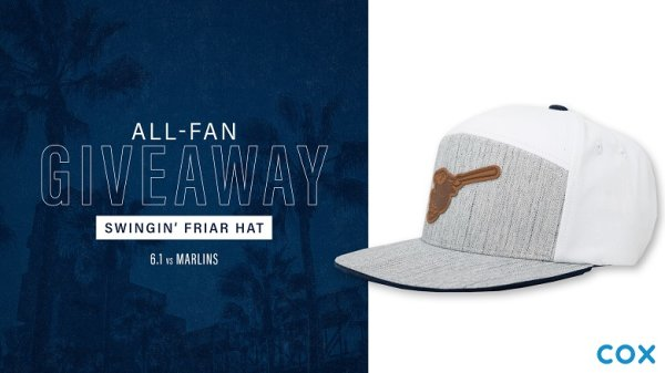None -  Padres All-Fan Giveaway: Swingin' Friar Hat