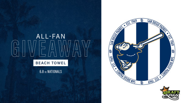 None -   Padres All-Fan Giveaway: Beach Towel