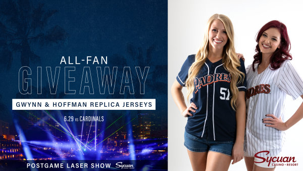 None -     Padres All-Fan Giveaway: Gwynn & Hoffman Replica Jerseys