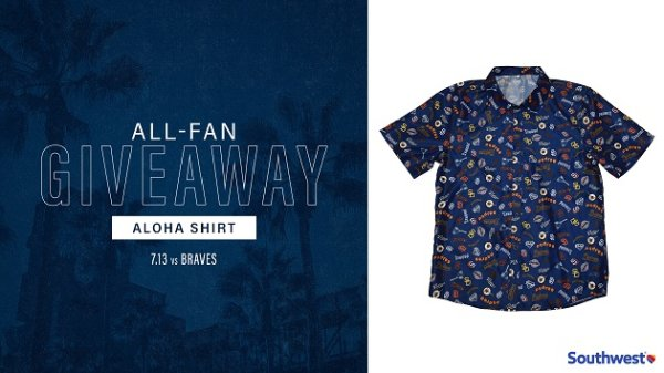 None -   Padres All-Fan Giveaway: Aloha Shirt