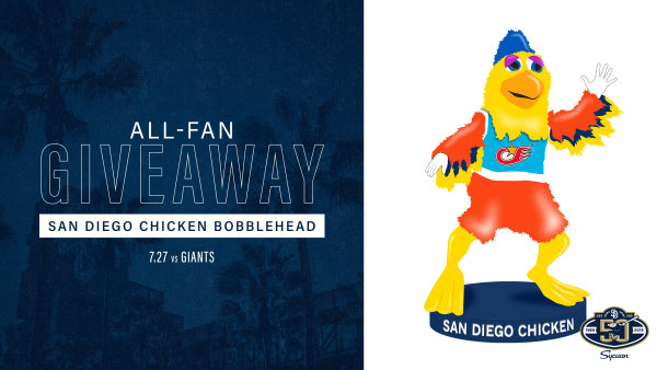 None -    Padres All-Fan Giveaway: San Diego Chicken Bobblehead