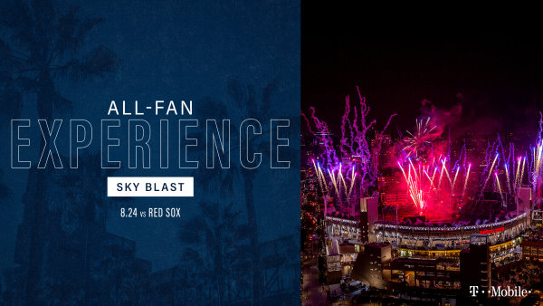 None -      Padres All-Fan Experience: Sky Blast