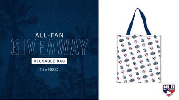None -      Padres All-Fan Giveaway: Reusable Bag