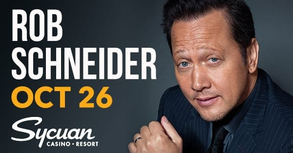 None - Win tickets to Rob Schneider at Sycuan Casino Resort