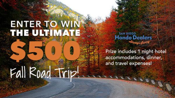 None - Win The Ultimate Fall Road Trip