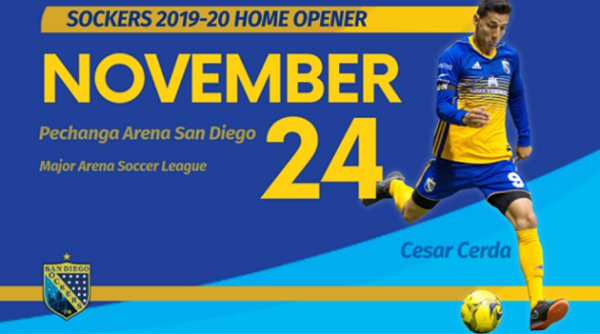 None - Win tickets to San Diego Sockers Home Opener