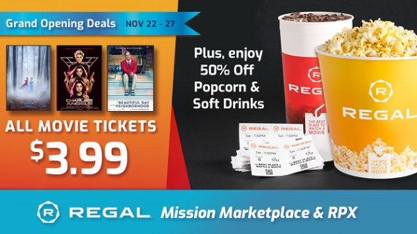 None - Win a Regal Mission Marketplace & RPX Gift Card