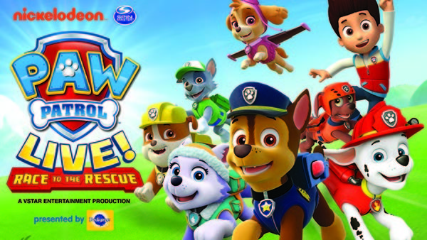 Win Tickets to see Paw Patrol Live!!