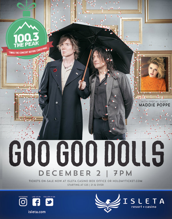 Win Tickets To Twas The Concert Before Christmas Featuring The Goo Goo Dolls!