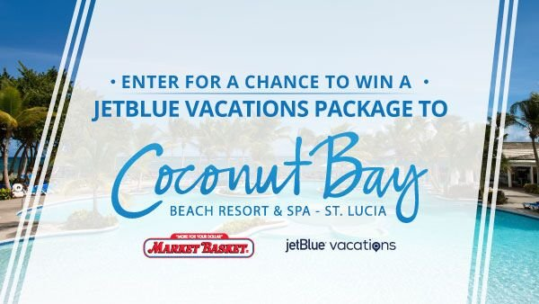 None -  Win a Jet Blue Package to Coconut Bay Beach Resort and Spa in St. Lucia!