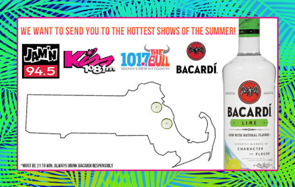 None - Bacardi Lime wants to send you to the hottest shows of the summer!