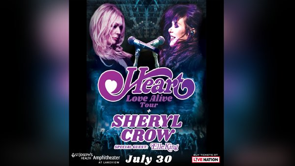 None -  Win tickets to see Heart and Sheryl Crow!
