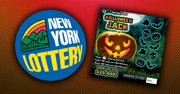 None - Win a Halloween Jack Scratch Off Ticket Prize Pack from the New York Lottery!