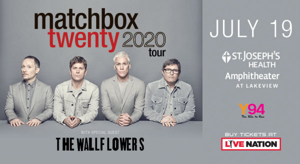 None - Y94 Presents: Matchbox Twenty at St. Joseph's Health Amphitheater. Win tickets!