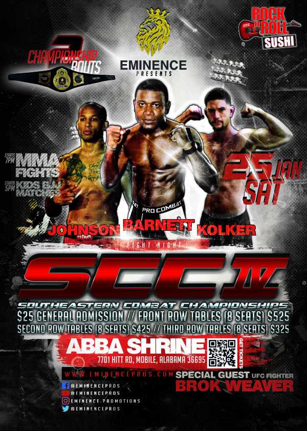None - Win your tickets to the Southeastern Combat Championships!