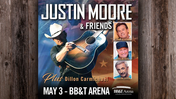 None - Win 98.1 The Bull's Justin Moore and Friends Spring Break Road Trip!