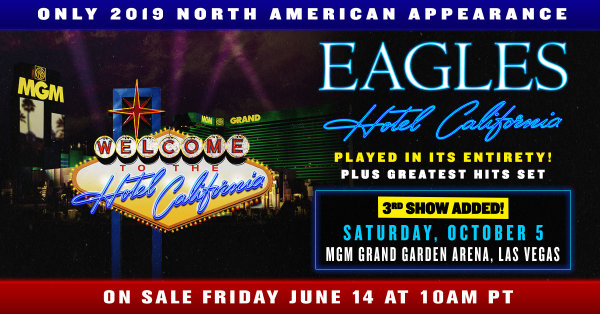 None -  Listen to win a trip to Las Vegas to see The Eagles LIVE!