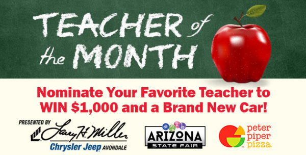 None - KNIX Teacher of the Month presented by Larry H. Miller Chrysler Jeep Avondale