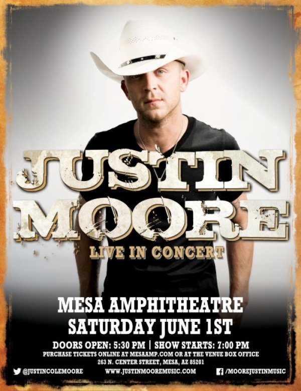 None - Win Tickets to see Justin Moore!