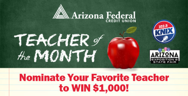 image for Arizona Federal Credit Union's Teacher of the Month