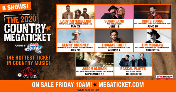 image for Win a 2020 Country Megaticket Powered by Arizona Lottery!