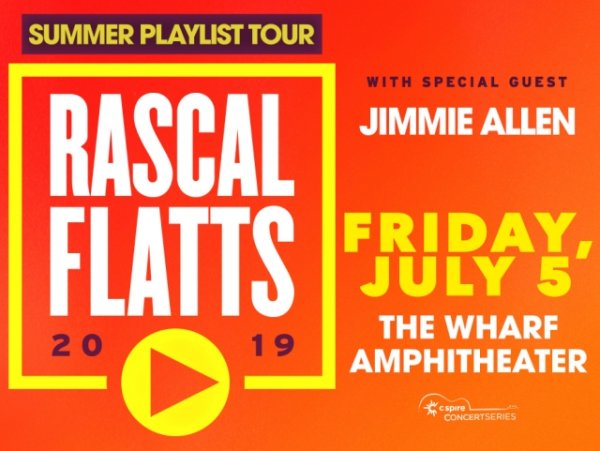 None -  Win your tickets to Rascal Flatts at the Wharf!