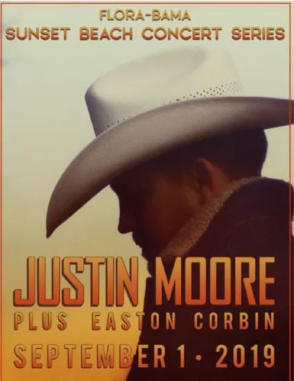 None - Win tickets to see Justin Moore at the Flora- Bama!