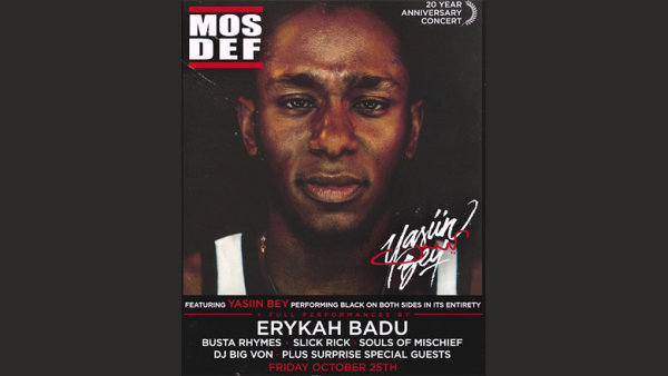 None - Enter For A Chance To Win Tickets To Yasiin Bey 20th Anniversary!