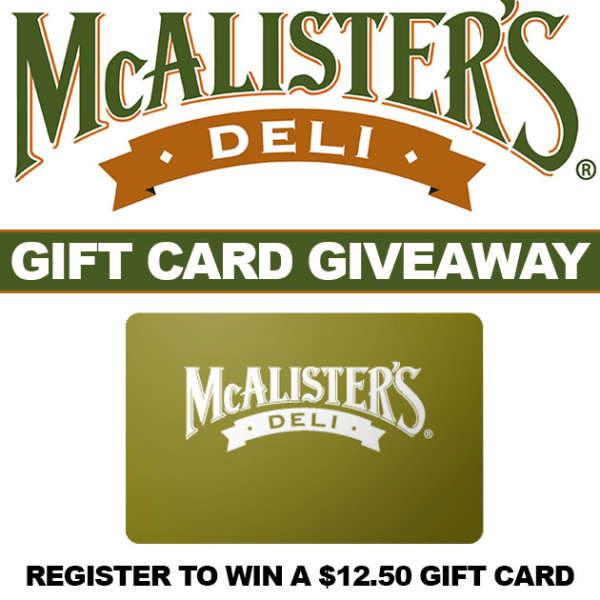 McAlister's Deli Gift Card Giveaway | Contest | WNOK