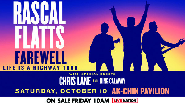 image for Win tickets to the Rascal Flatts Farewell: Life Is A Highway Tour