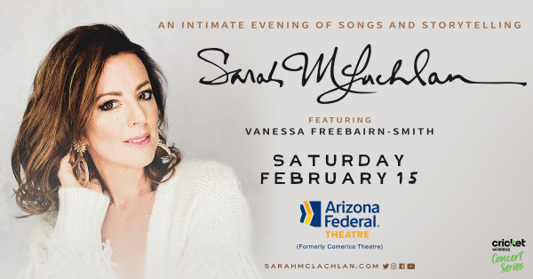 None - Win Tickets To See Sarah McLachlan!