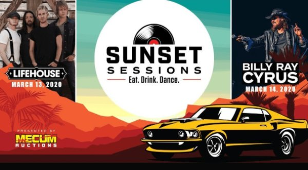 image for Win Tickets To The Mecum Auctions Sunset Sessions!