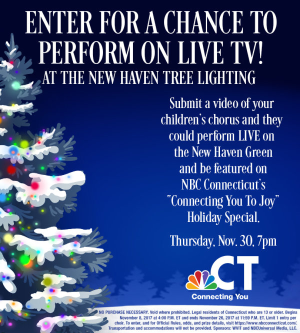 New Haven Tree Lighting Choral Contest