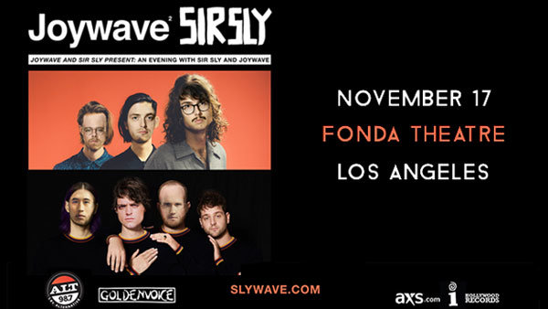 None - ALT 98.7 Presents Joywave and Sir Sly at Fonda Theatre (11/17)